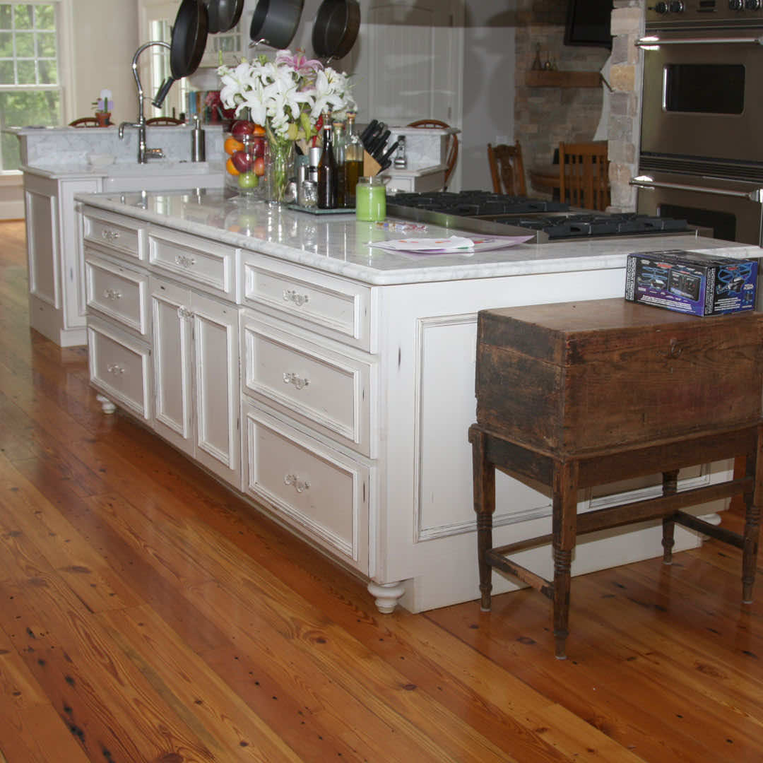 Number 1 Grade Heart Pine Flooring Completes The Country