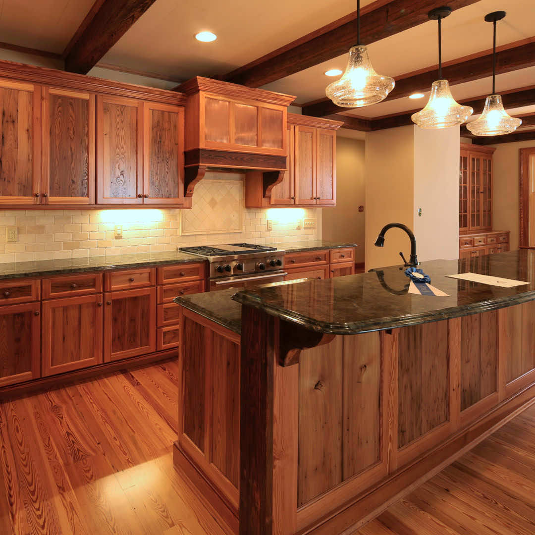 Custom Reclaimed Wood Kitchen And Breakfast Nook E T Moore