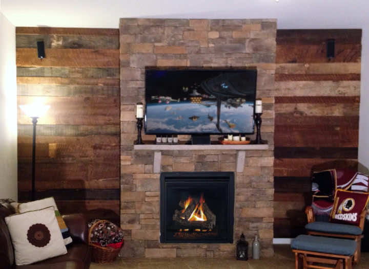Winery using antique reclaimed large heart pine wood beams