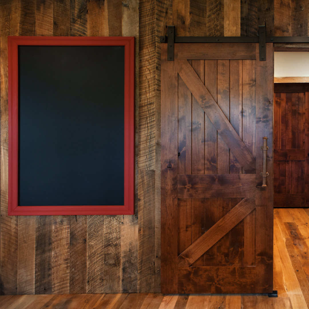 Old Barn Wood look using reclaimed wood wall paneling